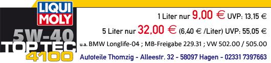 Liqui Moly Top Tec 4100 bei Autoteile Thomzig in Hagen