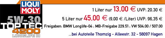 LIQUI MOLY Top Tec 4200 günstig bei Autoteile Thomzig in Hagen