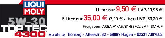 LIQUI MOLY Top Tec 4300 günstig bei Autoteile Thomzig in Hagen