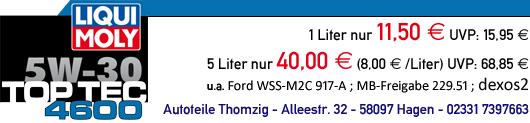 LIQUI MOLY Top Tec 4600 günstig bei Autoteile Thomzig in Hagen